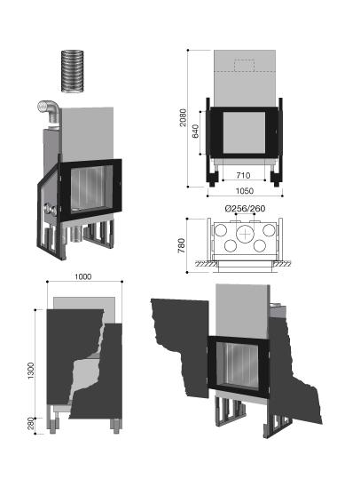 schema de la cheminée design Métafocus 6