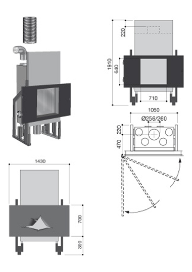 Schéma de la cheminée design Omégafocus