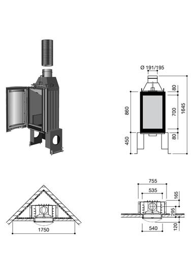 Cheminée design Pictofocus 860