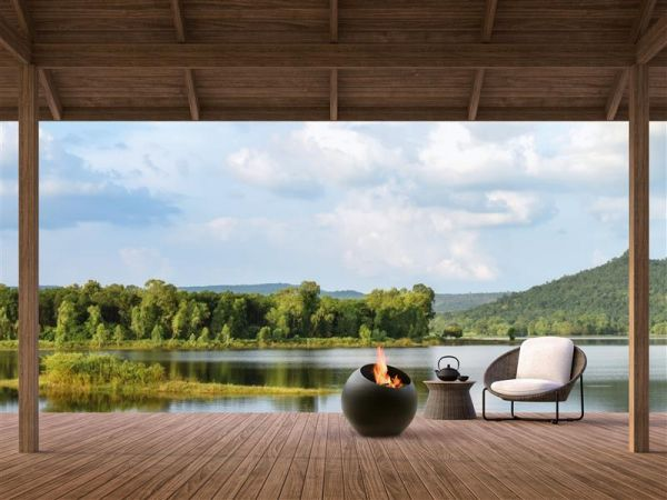 Focus creation architectes architectural design inspiration contemporary fireplace suspended fireplace interior dominique Imbert gas Outdoor firepits Bubble