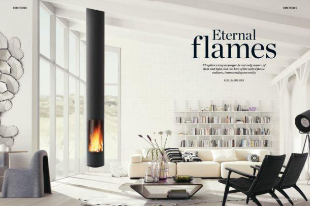 cheminée design Slimfocus dans la presse anglaise