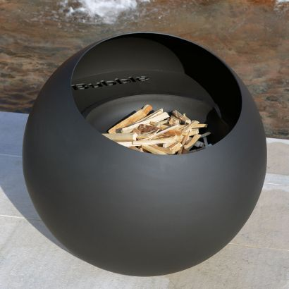 bubble is a wood burning fire pit by focus creation, outdoor