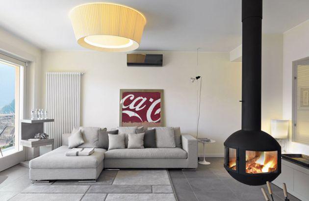 cheminée contemporaine suspendue agorafocus 630