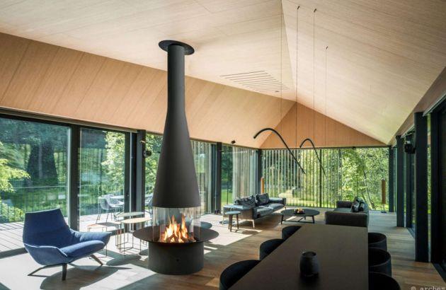 Central design fireplace Filiofocus