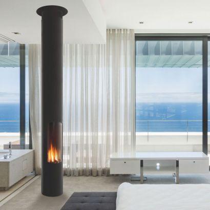 contemporary central designer gaz fire Slimfocus