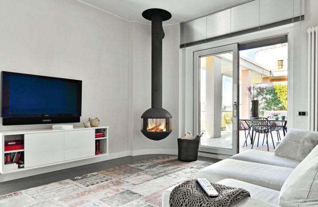 cheminée contemporaine centrale agorafocus 630