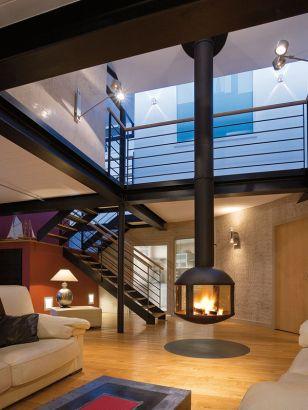 central designer fireplace  AGORAFOCUS 850
