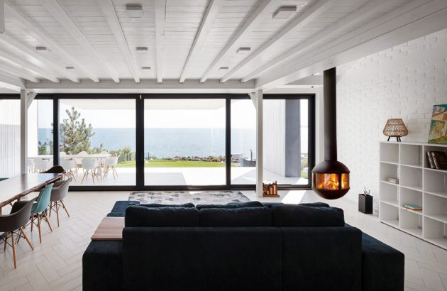 Suspended contemporary fireplace Agorafocus 630 Ukraine
