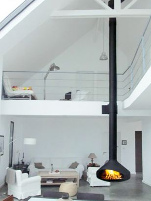 contemporary central designer fireplace Ergofocus