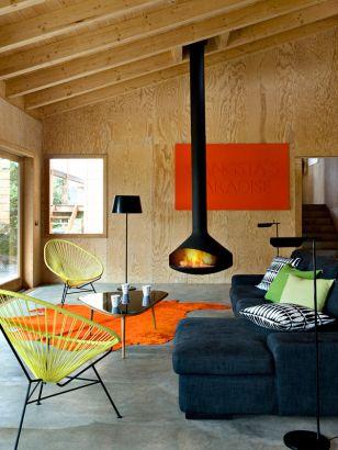 contemporary central designer fireplace Ergofocus