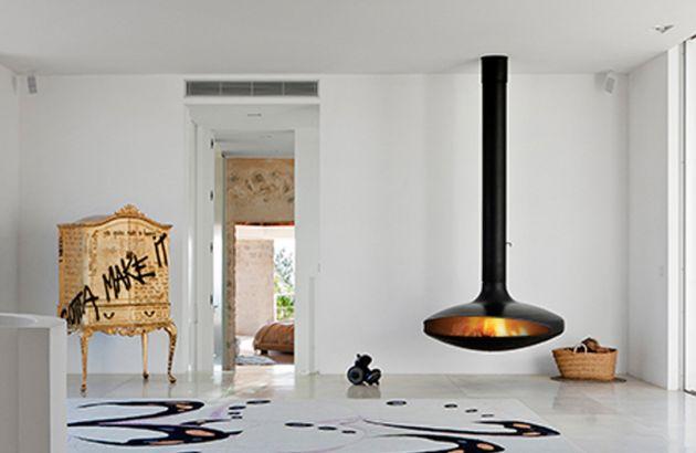 central designer fireplace Gyrofocus
