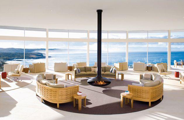 central designer fireplace Gyrofocus in Australia