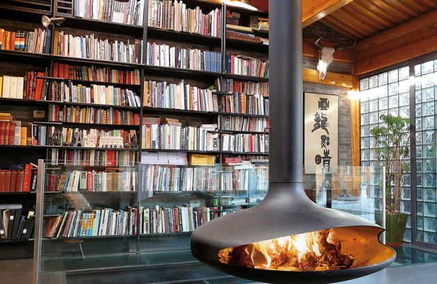 central designer fireplace Gyrofocus in Pékin