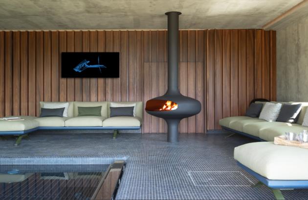 Central designer fireplace Magmafocus Majorque