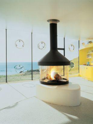 central designer fireplace Meijifocus in Wales