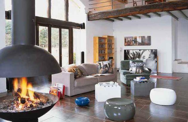 Central designer Fireplace Mezzofocus