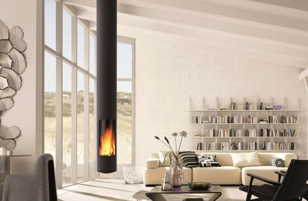 central designer fireplace Slimfocus