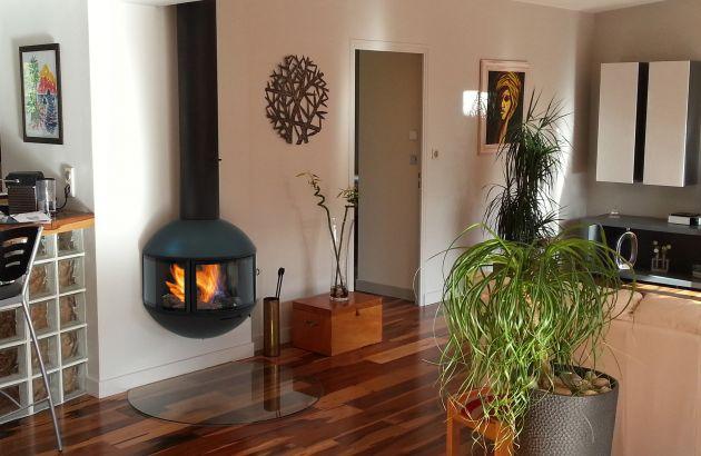 glassed designer fireplace Edofocus 631