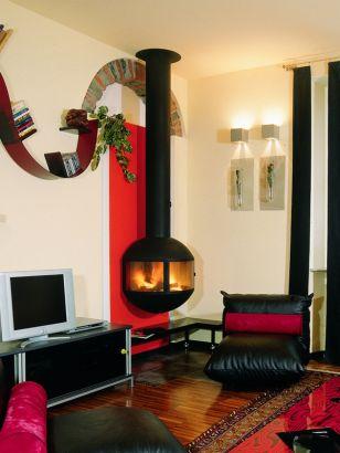 wall mounted  designer fireplace Edofocus 631