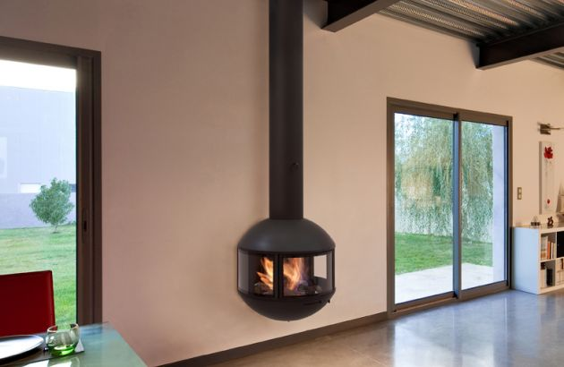 wall mounted  designer fireplace Edofocus 631