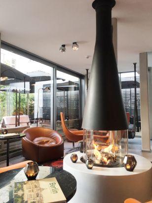 Central design fireplace Filiofocus  Berlin