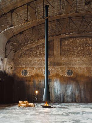 central designer telescopic fireplace filiofocus theater Australia