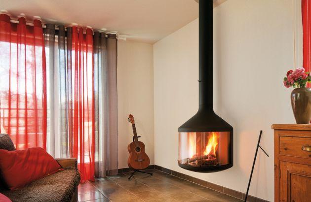 wall mounted designer fireplace Hubfocus