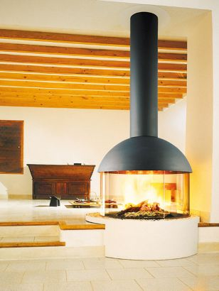 Central designer Fireplace Mezzofocus
