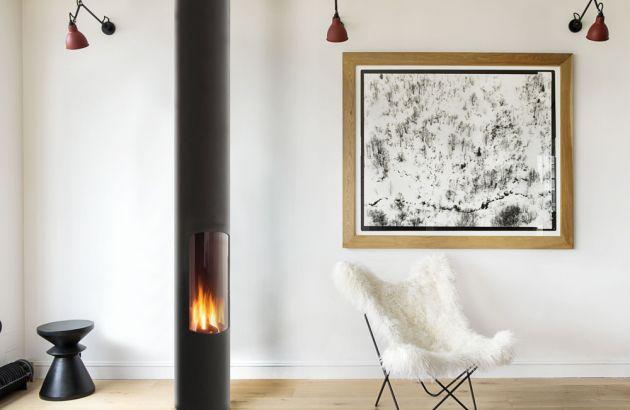 contemporary central designer gaz fire Slimfocus gas