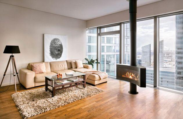 design fireplace stove Curvifocus gas