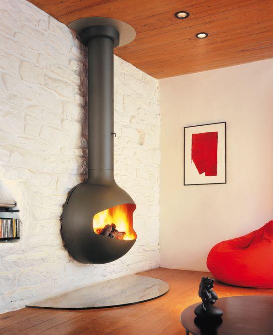 Wall Mounted Designer Fireplace | Focus