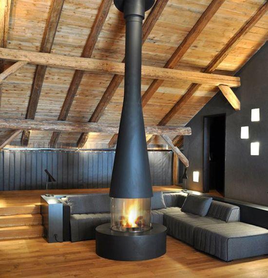 Central Designer Fireplace Focus